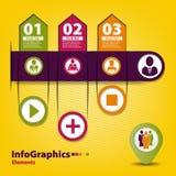 Grupo infographic em trabalhos de equipa no negócio Fotos de Stock