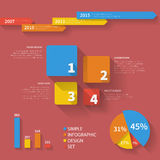 Grupo infographic limpo simples 001 Fotografia de Stock Royalty Free