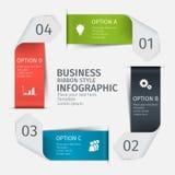 Grupo infographic moderno, estilo da fita Molde para a apresentação, carta, gráfico Ilustração do vetor Imagens de Stock Royalty Free