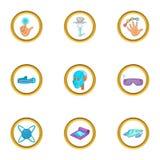 Grupo inovativo do ícone do dispositivo, estilo dos desenhos animados Imagem de Stock Royalty Free
