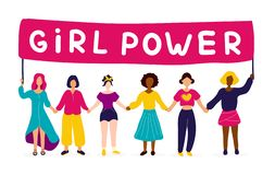 Grupo inter-racial de mulheres que guardam as mãos ilustração royalty free