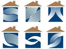 Grupo interior do logotipo da decoração ilustração stock