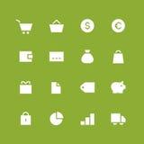 Grupo invertido do ícone da loja e do dinheiro Imagens de Stock Royalty Free