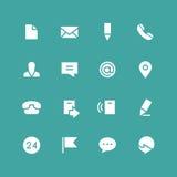 Grupo invertido do ícone dos contatos Imagem de Stock