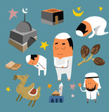 Grupo islâmico liso Foto de Stock Royalty Free