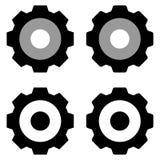 Grupo isolado ícone das engrenagens no fundo branco ilustração stock
