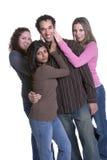Grupo isolado Imagem de Stock Royalty Free