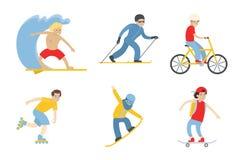 Grupo isolado do esporte ilustração royalty free