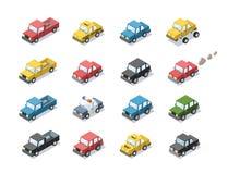 Grupo isométrico do vetor de transporte de passageiro da cidade Fotografia de Stock