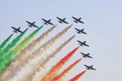 Grupo italiano de las acrobacias aéreas Imagenes de archivo