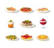 Grupo italiano do ícone do alimento Imagem de Stock Royalty Free