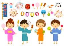 Grupo japonês do festival do verão Imagem de Stock