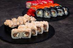 Grupo japonês do sushi imagens de stock royalty free