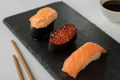 Grupo japonês do sushi imagem de stock