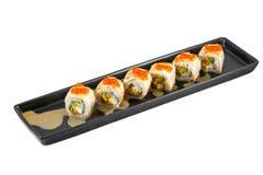 Grupo japonês do sushi do maki Imagens de Stock