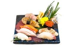 Grupo japonês do sushi do sashimi Fotografia de Stock