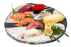 Grupo japonês do sushi do sashimi Foto de Stock Royalty Free