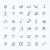 Grupo legal, da lei e da justiça do ícone Fotos de Stock