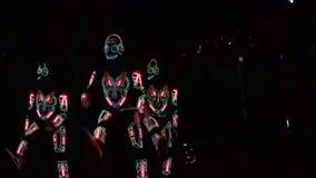Grupo ligero de la demostración en concierto almacen de metraje de vídeo