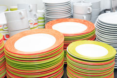 Grupo limpo do Dishware foto de stock royalty free