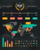 Grupo liso de Infographic ilustração do vetor