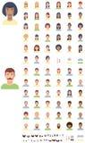 Grupo liso do ícone das caras do vetor Imagens de Stock Royalty Free
