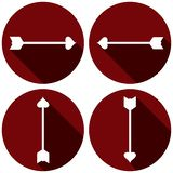 Grupo liso do ícone das setas para o dia de Valentim ilustração royalty free