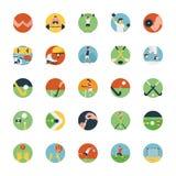 Grupo liso do ícone de ícone dos esportes Foto de Stock Royalty Free