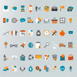 Grupo liso do ícone do projeto Fotos de Stock