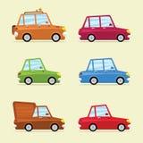Grupo liso do ícone do vetor de veículos modernos Imagem de Stock Royalty Free