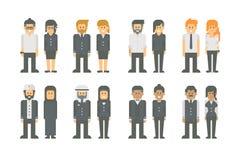 Grupo liso do trabalhador do negócio do projeto Fotografia de Stock Royalty Free
