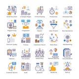 Grupo liso dos vetores da análise de negócio ilustração stock