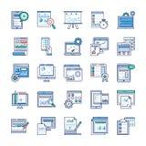 Grupo liso dos vetores dos elementos de Infographic ilustração stock