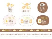 Grupo livre do sinal do ovo do vetor ilustração royalty free