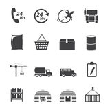 Grupo logístico do ícone Imagens de Stock Royalty Free