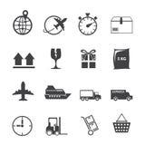 Grupo logístico do ícone Imagem de Stock Royalty Free