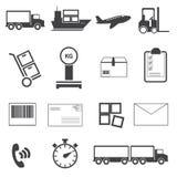 Grupo logístico do ícone Imagens de Stock
