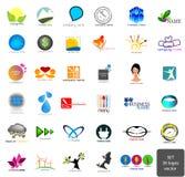 Grupo - logotipos ilustração stock