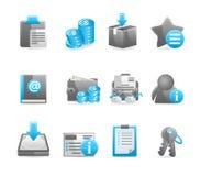 Grupo lustroso azul do ícone ilustração royalty free