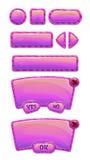 Grupo lustroso bonito do GUI do rosa ilustração royalty free