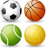Grupo lustroso da bola do esporte Ilustração Stock