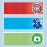 Grupo médico da bandeira. Foto de Stock