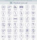 Grupo médico do ícone do esboço do vetor Linha fina elegante projeto do estilo Fotos de Stock Royalty Free