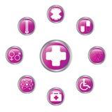 Grupo médico do botão Fotos de Stock