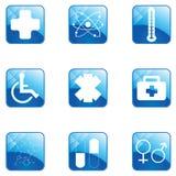 Grupo médico do botão Fotografia de Stock Royalty Free