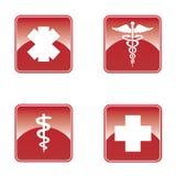 Grupo médico do botão. Fotografia de Stock