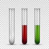 Grupo médico transparente do tubo de vidro Fotografia de Stock