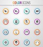 Grupo móvel dos ícones da conexão fotografia de stock royalty free