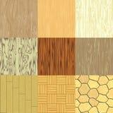 Grupo madeira sem emenda de texturas geradas Ilustração Royalty Free