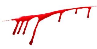 Grupo 8 manchas de sangue no fundo branco isolado Imagens de Stock